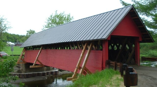 Troy Covered Bridge Construction