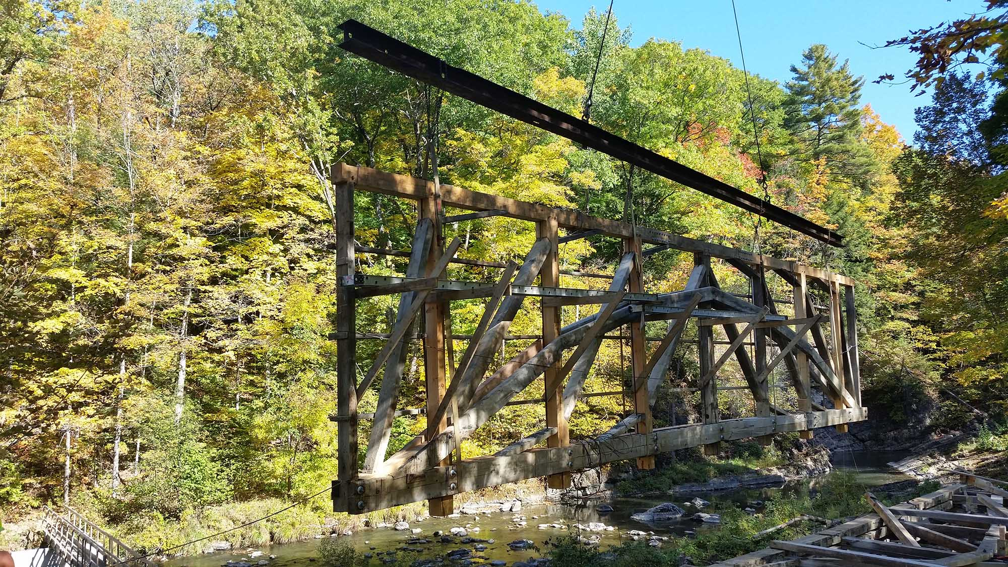 Covered Bridge Construction
