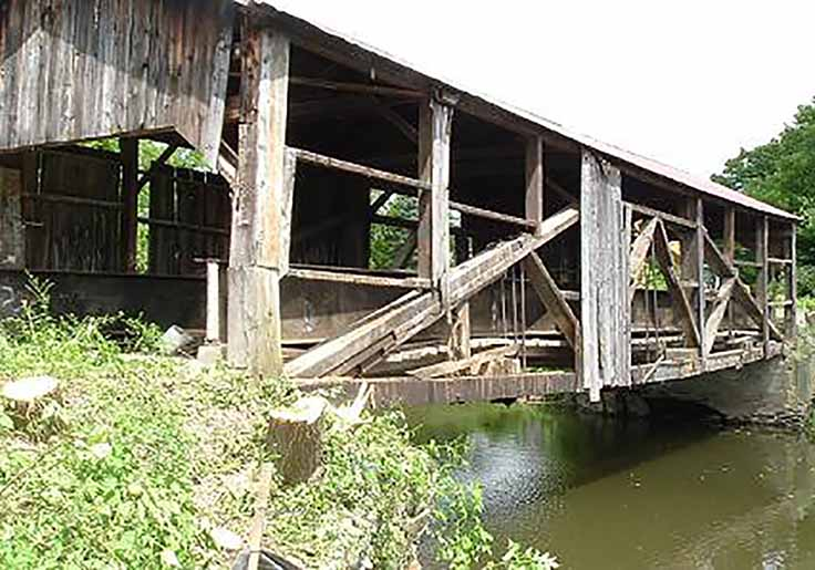 Fairfield Covered Bridge Before Reconstruction