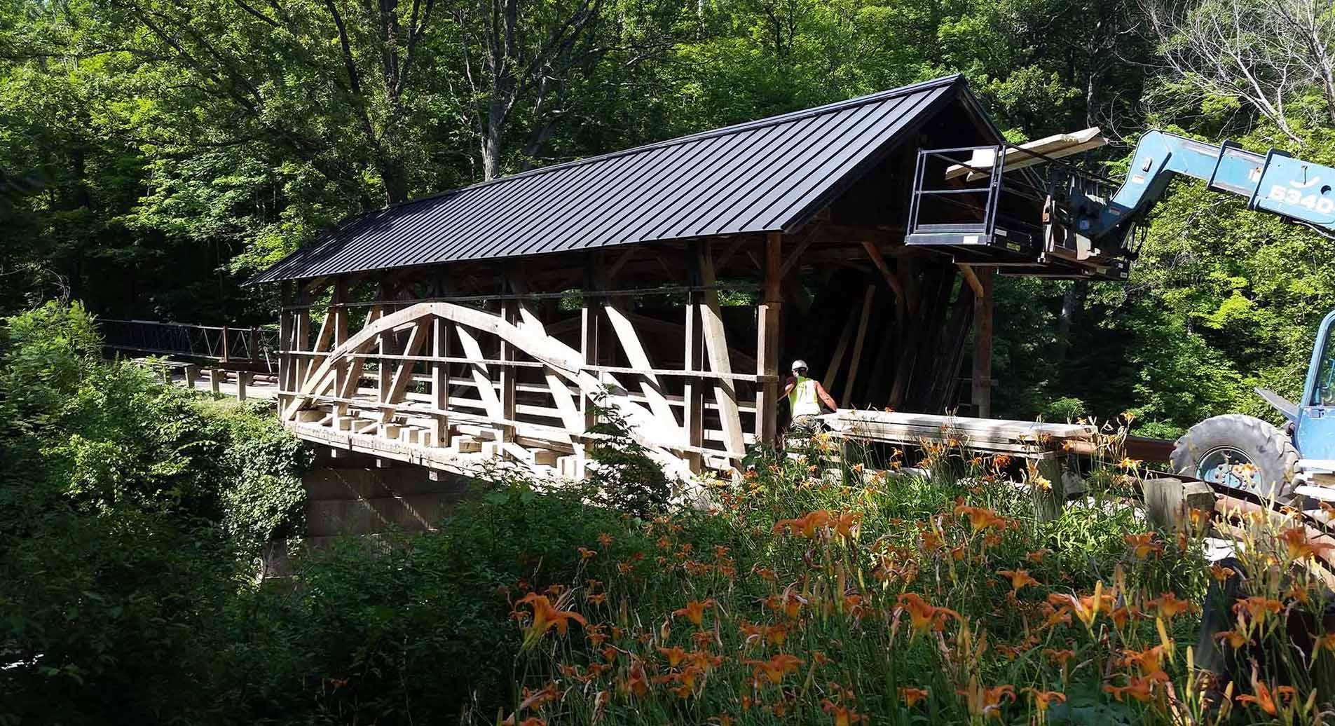 Covered Bridge Construction