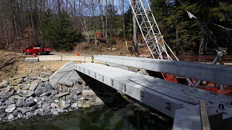Steel and Concrete Bridge Construction, Morrisville, VT