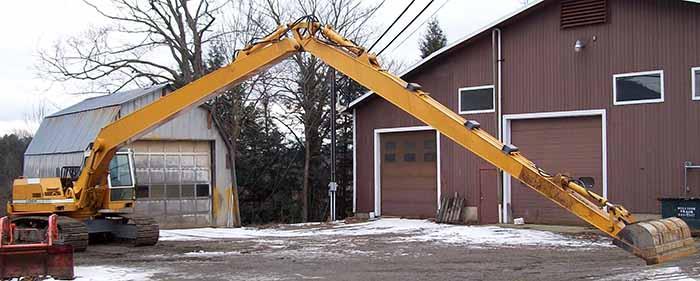 Long Reach Excavator in Morrisville, VT