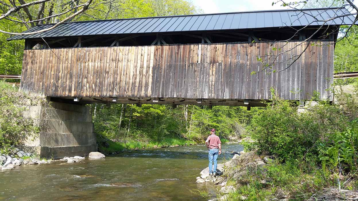 Covered Bridge and Marc Cote