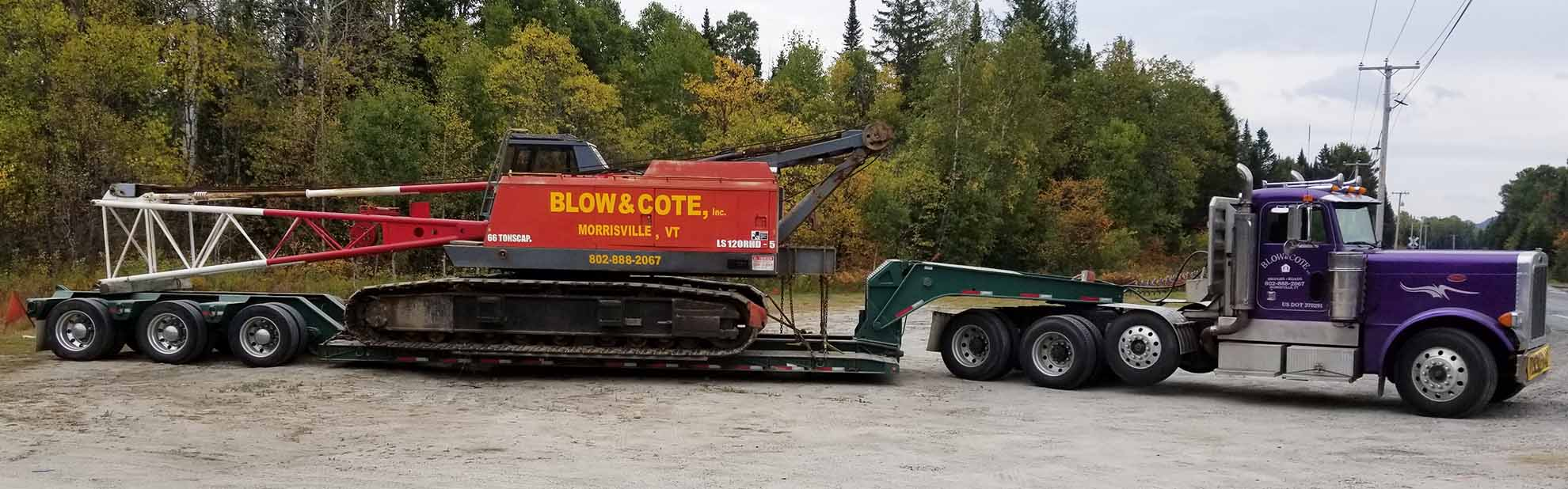 Equipment Hauling Based in Morrisville Vermont