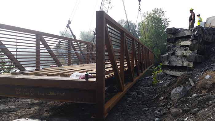 Steel Bridge Construction Morrisville, VT