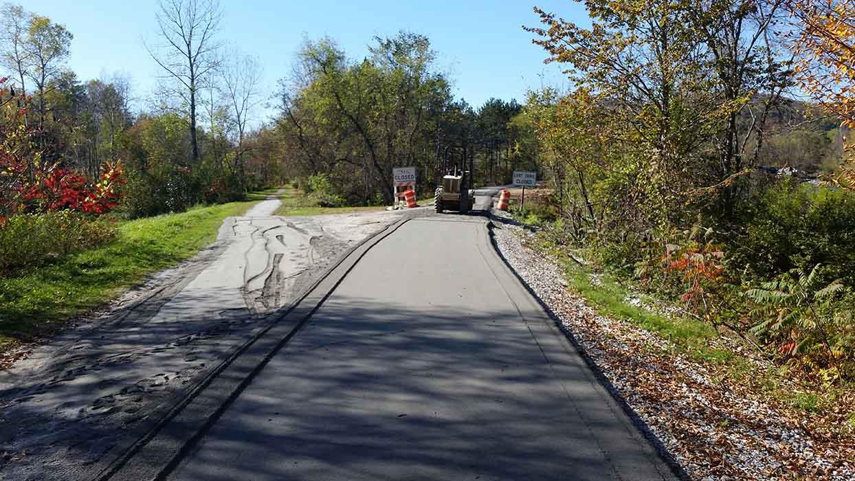 Bike Path Construction Morrisville, VT