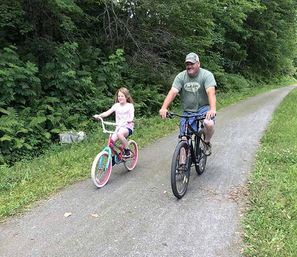 Bike Path Construction Morrisville, VT, Nathan Cote
