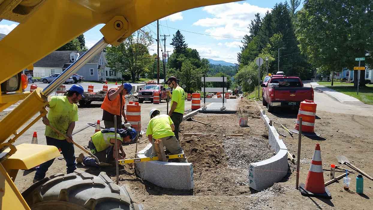 Sidewalk Construction Morrisville, VT